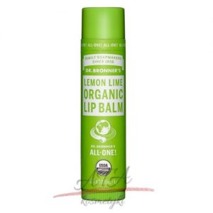 Dr Bronner's Lemon-Lime Organic Lip Balm - Organiczny balsam do ust - Cytryna-Limonka 4g