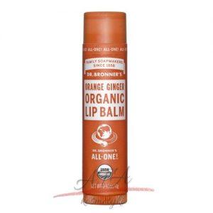 Dr Bronner's Orange Ginger Organic Lip Balm - Organiczny balsam do ust - Pomarańcza -Imbir 4g