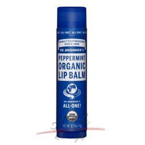 Dr Bronner's Organic Lip Balm Peppermint - organiczny balsam do ust - Mięta 4g
