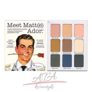 The Balm MEET MATT(E) ADORE Eyeshadow Palette - Paleta matowych cieni