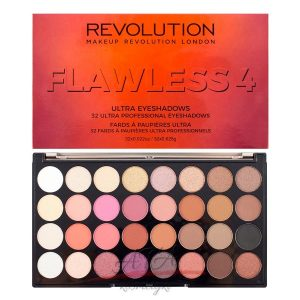 Makeup Revolution Ultra Eyeshadow Palette Flawless 4 paleta 32 cieni