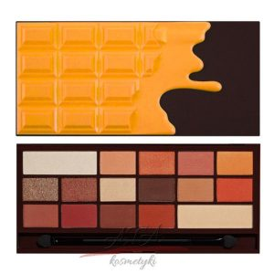 MAKEUP REVOLUTION Paleta cieni I Heart Makeup I ♡ Chocolate ORANGE CHOCOLATE