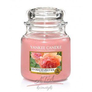 Yankee Candle SUN-DRENCHED APRICOT ROSE świeca zapachowa słoik średni