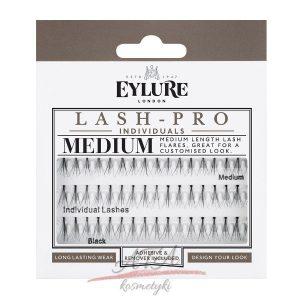 Eylure Lash-Pro Individuals – Medium Lashes Kępki rzęs z klejem i środkiem do ich usuwania