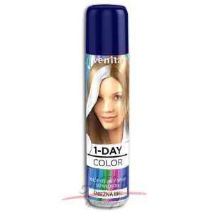 Venita !-DAY COLOR Spray koloryzujący ŚNIEŻNA BIEL 50 ml