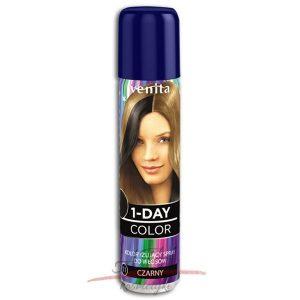 Venita !-DAY COLOR Spray koloryzujący CZARNY 50 ml