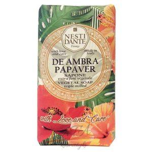 Nesti Dante DE AMBRA PAPAVER naturalne mydło CZERWONY MAK 250g