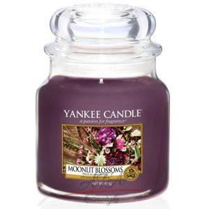 Yankee Candle MOONLIT BLOSSOMS Świeca zapachowa słoik średni 411g