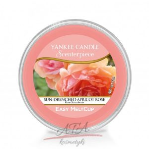 Yankee Candle SUN-DRENCHED APRICOT ROSE Scenterpiece Easy MeltCup Wosk do kominka elektrycznego 61 g