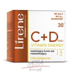 Lirene C+D PRO VITAMIN ENERGPY Nawilżający krem-żel rozświetlający na dzień i na noc - cera normalna 50 ml