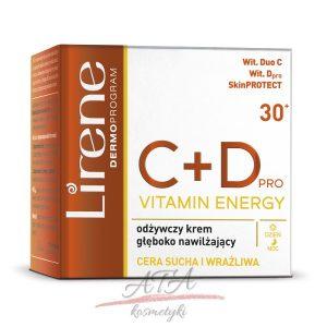 Lirene C+D PRO VITAMIN ENERGY Odżywczy krem głęboko nawilżający na dzień i na noc - cera sucha i wrażliwa 50 ml