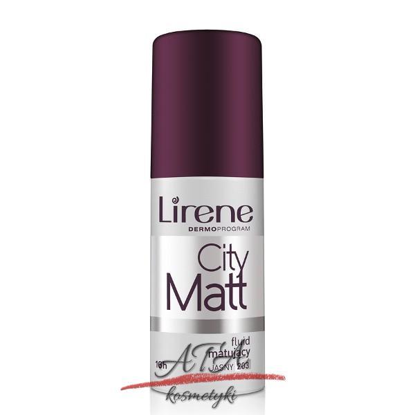 Lirene CITY MATT Fluid matująco-wygładzający 203 JASNY 30 ml