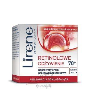 Lirene RETINOLOWE ODŻYWIENIE 70+ Naprawczy krem przeciwzmarszczkowy 50 ml