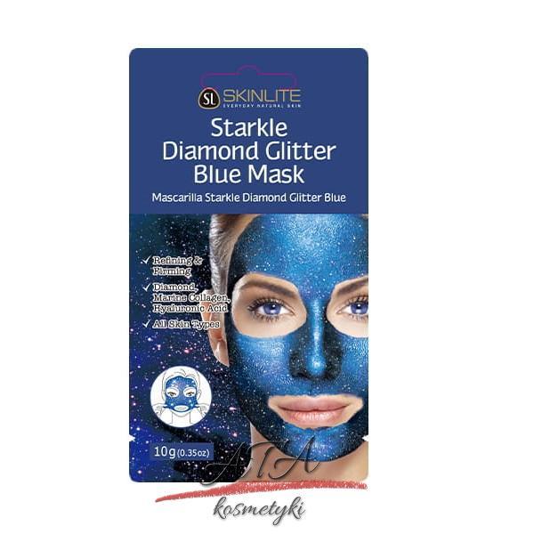 SKINLITE STARKLE DIAMOND GLITTER BLUE MASK Koreańska maseczka peel-off z błyszczącymi drobinkami 10g