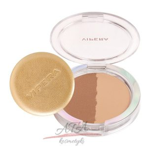 Vipera ART OF COLOR COMPACT POWDER Puder brązujący & transparentny 203 DUO Transparent & Bronzer 12 g