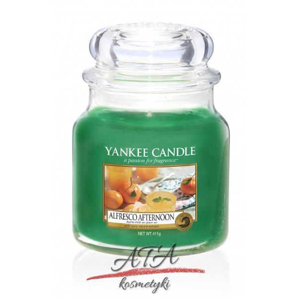 Yankee Candle ALFRESCO AFTERNOON Świeca zapachowa słoik średni 411g