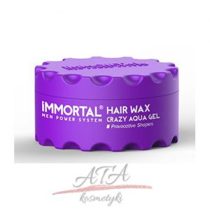 IMMORTAL HAIR WAX CRAZY AQUA GEL Pomada wodna 150 ml