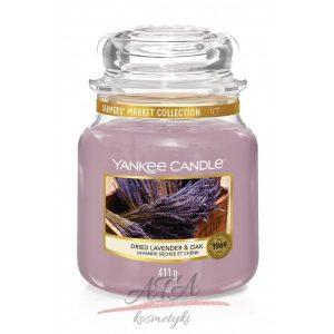 Yankee Candle DRIED LAVENDER & OAK Świeca zapachowa słoik średni 411g g