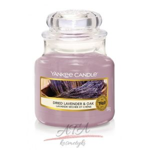 Yankee Candle DRIED LAVENDER & OAK Świeca zapachowa słoik mały 104g